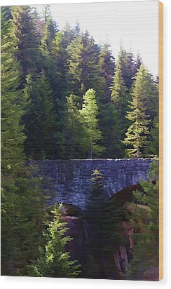 Bridge In The Middle Of Beauty Wood Print