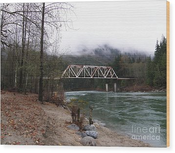 Bridge In Washington State Wood Print by Tanya  Searcy