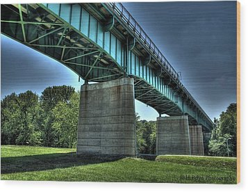 Bridge Of Blue Wood Print by Heather  Boyd
