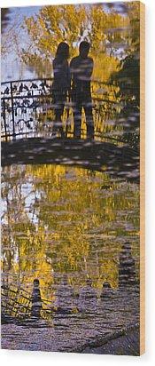 Bridge Of Love Wood Print by Andrew Shlykoff