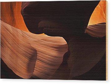 Bridge Of The Light Wood Print by Mike  Dawson