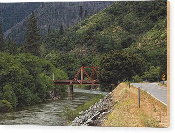 Wood Print featuring the photograph Bridge On Highway 70 by Gary Rose