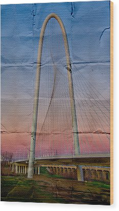 Bridge On Paper Wood Print
