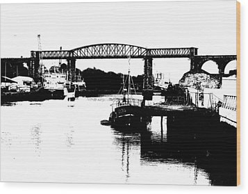 Wood Print featuring the photograph Bridge On The Boyne by Charlie and Norma Brock