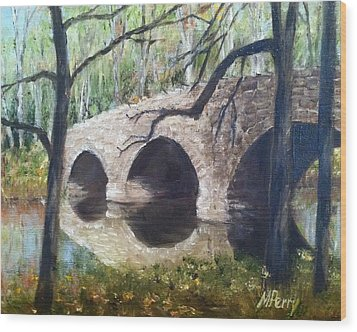 Bridge Over The Perkiomen Wood Print