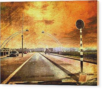 Bridge Over Troubled Water  Wood Print by Yvon van der Wijk