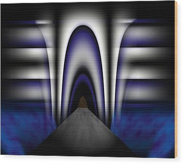 Bridge Over Troubled Waters Wood Print by Christopher Gaston