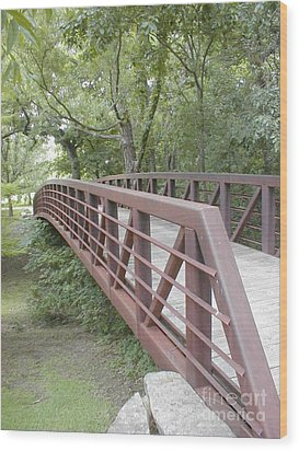 Wood Print featuring the photograph Bridge To Beyond by Vonda Lawson-Rosa