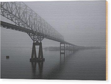Bridge To Nowhere Wood Print by Shelley Neff