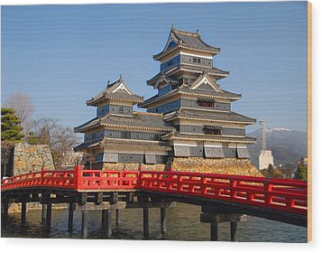 Bridge To The Matsumoro Castle Wood Print