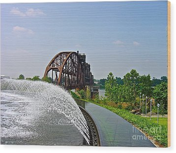 Bridge To The Past Wood Print by Joe Finney