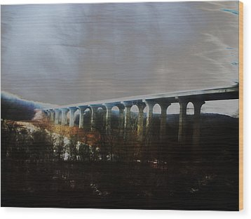 Bridge To The Past Wood Print by Rosvin Des Bouillons