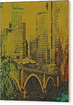 Bridging Minneapolis Wood Print