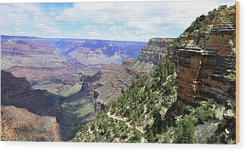Wood Print featuring the photograph Bright Angel Trail by Paul Mashburn