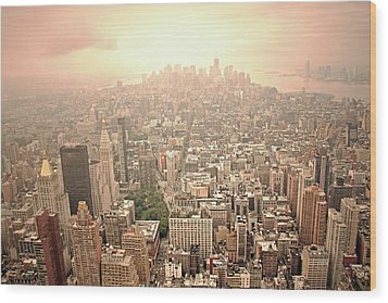 Bright Financial District In Nyc Wood Print by Daniela Duncan