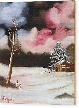 Bright Night Wood Print by Amity Traylor