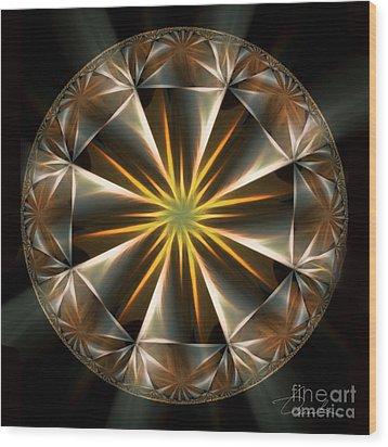 Bright Star Wood Print by Danuta Bennett