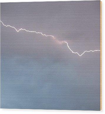 Brilliant Bolt Wood Print by Elizabeth  Sullivan