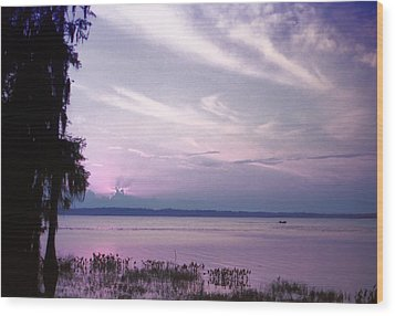 Wood Print featuring the photograph Brilliant Everglades Sunset by Lynnette Johns