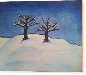 Brisk Winter Wood Print