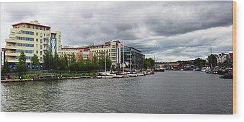 Bristol Panoramic Photograph Wood Print by Ken Brannen