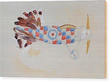 British Bird Plane Wood Print by Virginia Stuart
