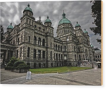 British Columbia Parliament Buildings Wood Print by Gregory Dyer