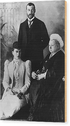 British Royal Family. Mary, Duchess Wood Print by Everett