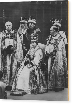 British Royalty. Front Row, From Left Wood Print by Everett