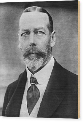 British Royalty. King George V Wood Print by Everett