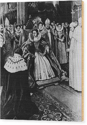 British Royalty. Queen Elizabeth I Wood Print by Everett