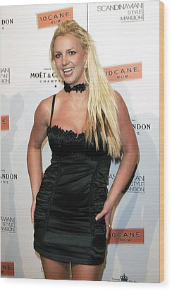 Britney Spears At Arrivals Wood Print by Everett