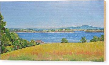 Broad Cove From Bremen Wood Print