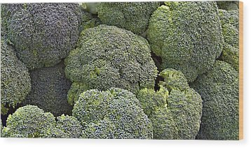 Broccoli Wood Print by Forest Alan Lee