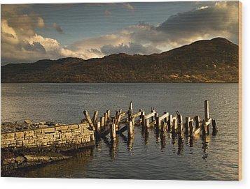 Broken Dock, Loch Sunart, Scotland Wood Print by John Short