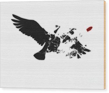 Broken Peace Wood Print by Pixel Chimp