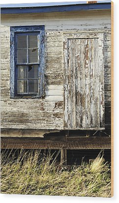 Wood Print featuring the photograph Broken Window by Fran Riley