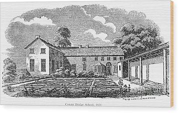 Bront�: Boarding School Wood Print by Granger