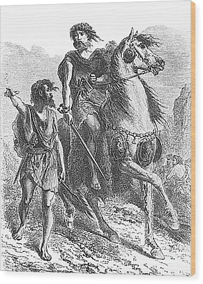 Bronze Age Warrior Wood Print by Photo Researchers