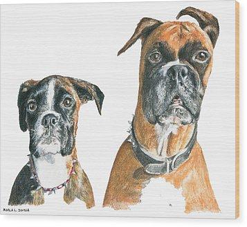 Brooklyn Boxers Wood Print by Marla Saville