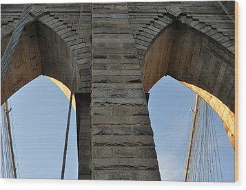 Wood Print featuring the photograph Brooklyn Bridge by Diane Lent