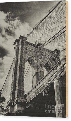 Brooklyn Bridge Wood Print by Vicki DeVico