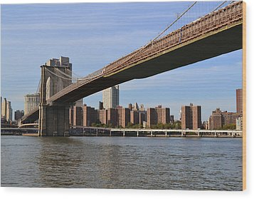 Wood Print featuring the photograph Brooklyn Bridge1 by Zawhaus Photography