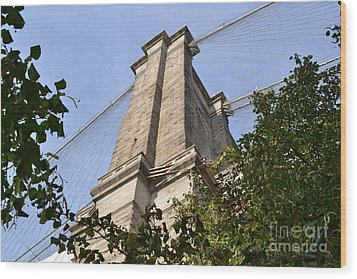 Brooklyn Bridge2 Wood Print by Zawhaus Photography