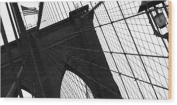 Brooklyn Lines Wood Print by Gilles Rousel