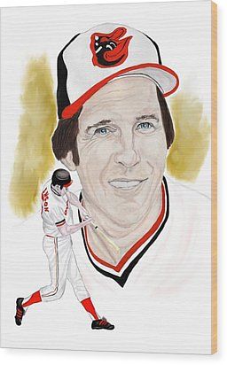 Brooks Robinson Wood Print by Steve Ramer