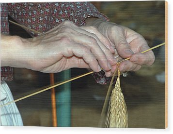 Wood Print featuring the photograph Broom Making by Wanda Brandon