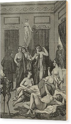 Brothel In Ancient Greece. 19th Century Wood Print by Everett