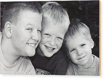 Brothers Three Wood Print