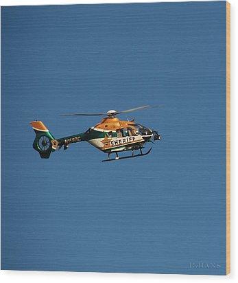 Broward County Sherriff Cop Ter Wood Print by Rob Hans